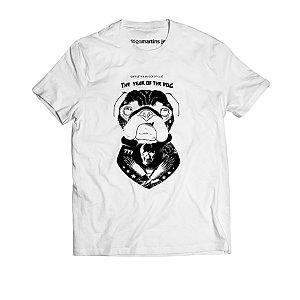 Camiseta Masculina - Pug Branca