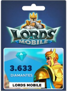 Lords Mobile - 3.633 Diamantes