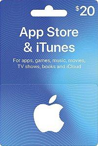 Itunes - Cartão App Store $ 20 Dólares USA