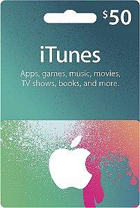 Itunes - Cartão App Store $ 50 Dólares USA