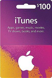 Itunes - Cartão App Store $ 100 Dólares USA