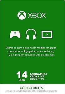 Xbox Live Gold - Cartão Assinatura 14 Dias