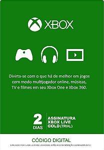 Xbox Live Gold - Cartão Assinatura 2 Dias