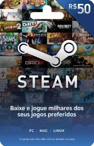 Steam - Cartão Pré-Pago R$50,00