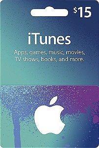 Itunes - Cartão App Store $ 15 Dólares USA
