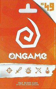 Ongame - Cartão Pré-Pago R$49,00