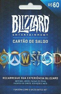Battle.Net - Cartão Saldo R$ 60 Reais