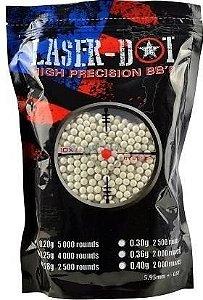 Esferas Airsoft (BBs) - 0,30g Laser Dot 3000 Unidades