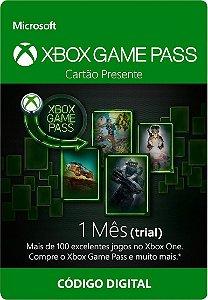 Xbox Game Pass - Cartão Assinatura 1 Mês Trial