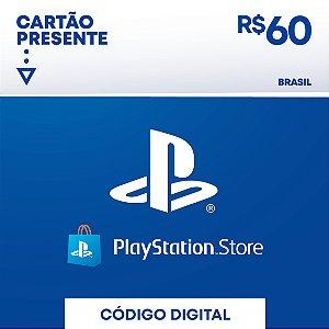 Playstation - Cartão PSN R$ 60 Reais Brasil