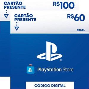 Playstation - Cartão PSN R$ 160 Reais Brasil