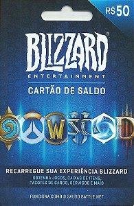 Battle.Net - Cartão Saldo R$ 50 Reais