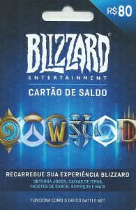 Battle.Net - Cartão Saldo R$ 80 Reais