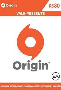 Origin - Cartão Pré Pago R$ 80 Reais