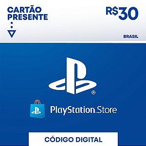 Playstation - Cartão PSN R$ 30 Reais Brasil