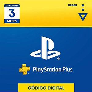 Playstation - Cartão PSN Plus 3 meses Brasil