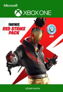 Fortnite : Pacote Atacante Vermelho - Xbox One - Código de 25 Dígitos