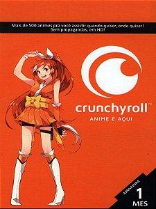 Crunchyroll - Cartão Assinatura Premium Mega Fan 1 Mes