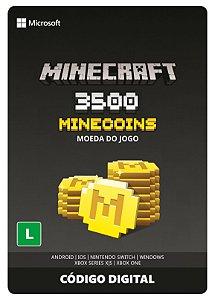Minecraft: Pacote de Minecoins: 3500 Moedas