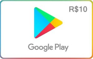 Google Play - Cartão R$10 Reais - Brasil