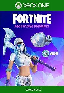 Fortnite : Pacote Pacote Diva Diamante - Xbox One - Código de 25 Dígitos