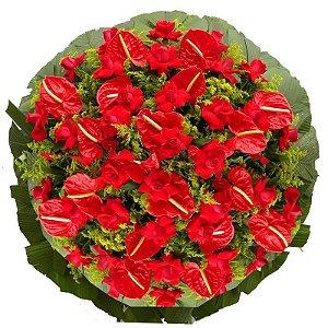 7 - Coroa de Flores para Velório - Amor Eterno