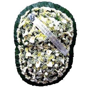 9 - Coroa de Flores para Velório - Celestial Branca