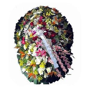 Coroa de Flores para Velório - Luz Divina