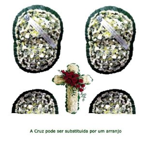 Flores para Sala de Velório Conjunto Premium - Coroa de Flores para Velório
