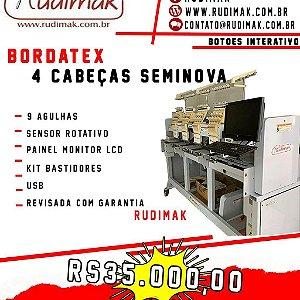 Maquina de bordar Bordatex 4 cabeças  plana