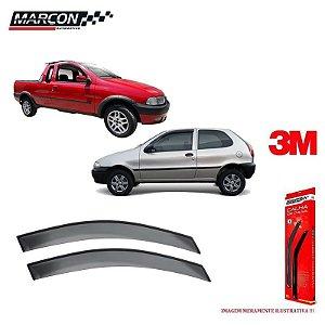 Calha De Chuva Fiat Palio / Strada 2 Portas 96/00 - Marçon
