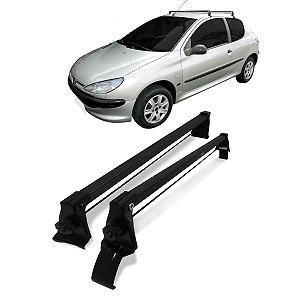 Rack Teto Peugeot 206/207 1999 A 2015 2 Portas Preto Vhip
