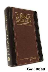 Bíblia Grande RECM (Referências e Mini Concordância) Capa Chocolate Caramelo