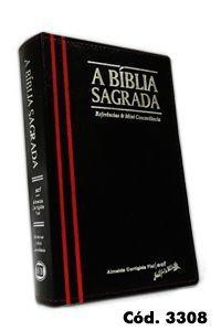 Bíblia Grande RECM (Referências e Mini Concordância) Capa Preta Vermelha