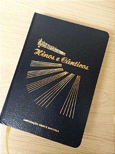 Hinos & Cânticos, somente letra, capa dura, beira dourada