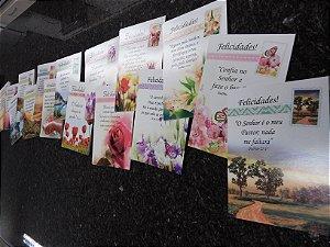 Cartões com versículos bíblicos (pacote com 16 cartões diversos)
