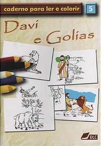 DAVI E GOLIAS COLORIR