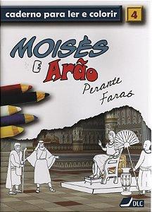 MOISÉS E ARÃO PERANTE FARAÓ COLORIR
