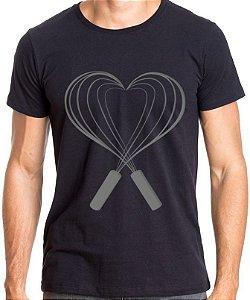 Camiseta Pastry Lover Slim Unissex - Preta