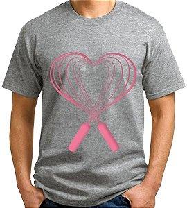 Camiseta Pastry Lover Slim Unissex - Cinza