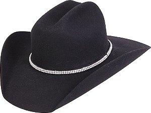 chapéu feminino pralana bareback strass feltro preto