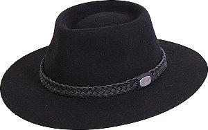 chapéu almir sater pralana estradeiro feltro preto 12310