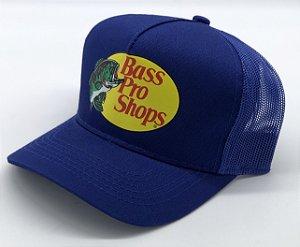 boné azul estampado tela bass pro shops 7498