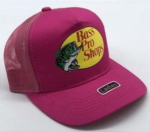 boné rosa estampado tela bass pro shops 7502