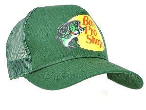 boné verde estampado tela bass pro shops 7503