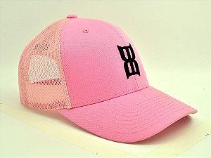 boné rosa tela bex importado