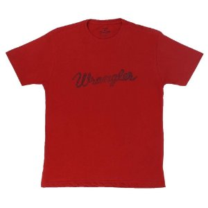camiseta masculina vermelha wrangler 502.36.52.40
