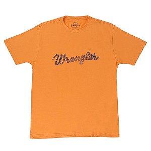 camiseta masculina laranja wrangler 502.36.c8.40