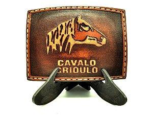 fivela quadrada de couro cavalo crioulo pyramid 3675
