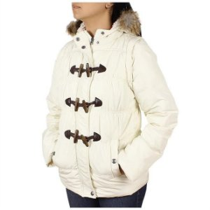 jaqueta feminina off branca capuz - wrangler j27.i2.i2.40